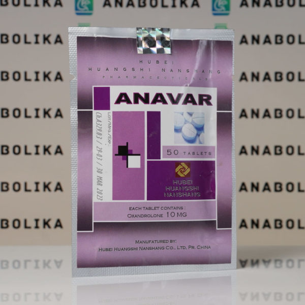 Verpackung Anavar (Oxandrolone) 10 mg Hubei Huangshi Nanshang